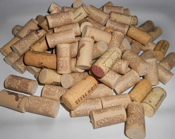 Lot of 80 used natural and synthetic  wine corks bulk craft cork, DIY, coasters, wreath materials, cork boards, mats,craft supply