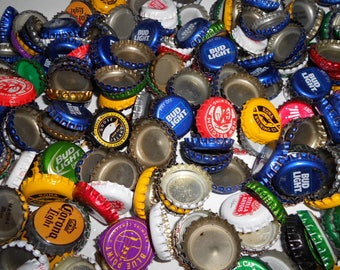 100 Various Used Undented And Dented Bottle Caps Altered Art Art Supply Jewelry Making Metal Art