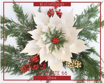 Christmas flowers etsy pdf paper flowers paper poinsettia flower christmasdecor giant paper flower christmas flower baseinstruction including mightylinksfo