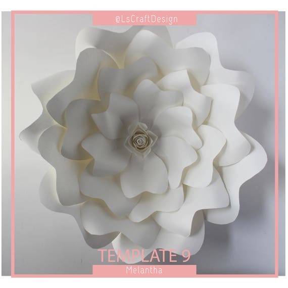 Paper Flower Template Giant Paper Flower Templates DIY Paper Etsy