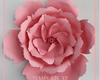 Paper Flower Template, PDF Paper Flower, DIY Paper Flower, Giant Paper Flower Templates, Base and Instruction Including