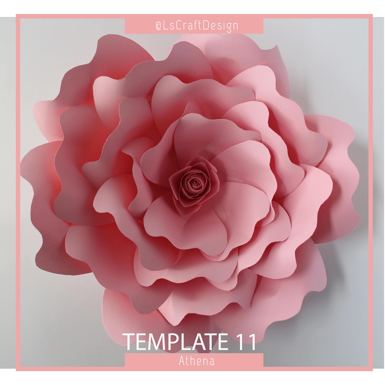 Pdf paper flower paper flower template giant paper flower etsy mightylinksfo