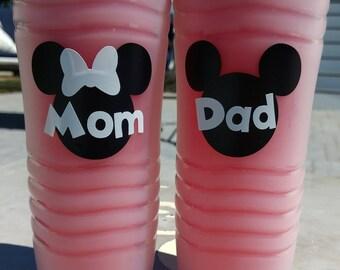 16.6 oz Mickey/Minnie customized waterbottle