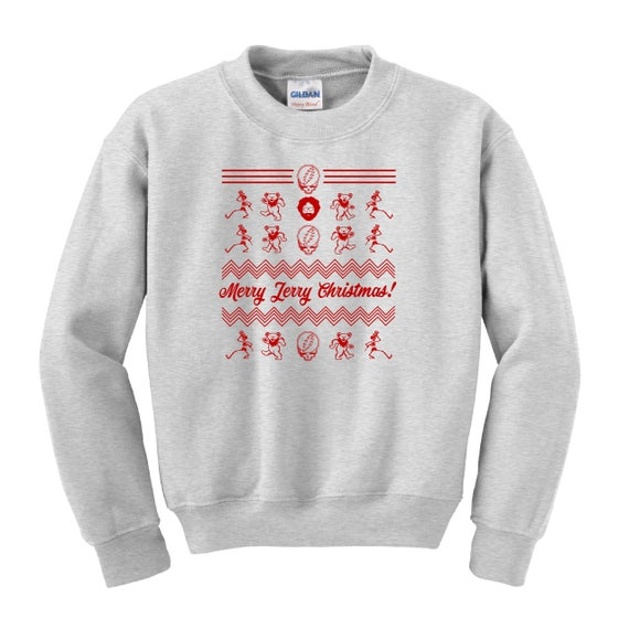 Merry Jerry Christmas Unisex Sweater Grateful Dead Hoodie Etsy