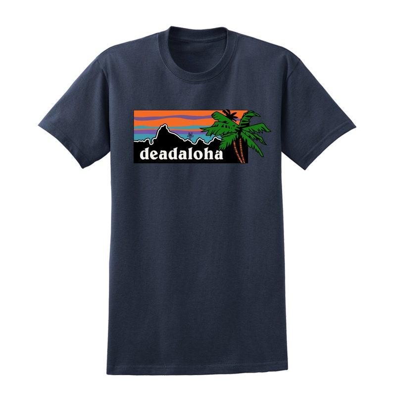 dbf5a4a1 Hawaii Grateful Dead unisex Crew neck Tee Deadaloha shirt | Etsy