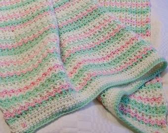 Multicolor baby blanket crib size