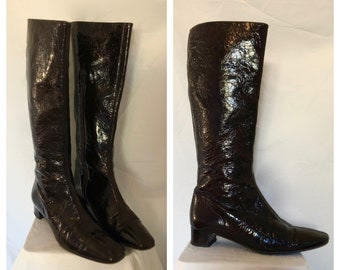 3ad3426ab6baf Patent leather boots | Etsy
