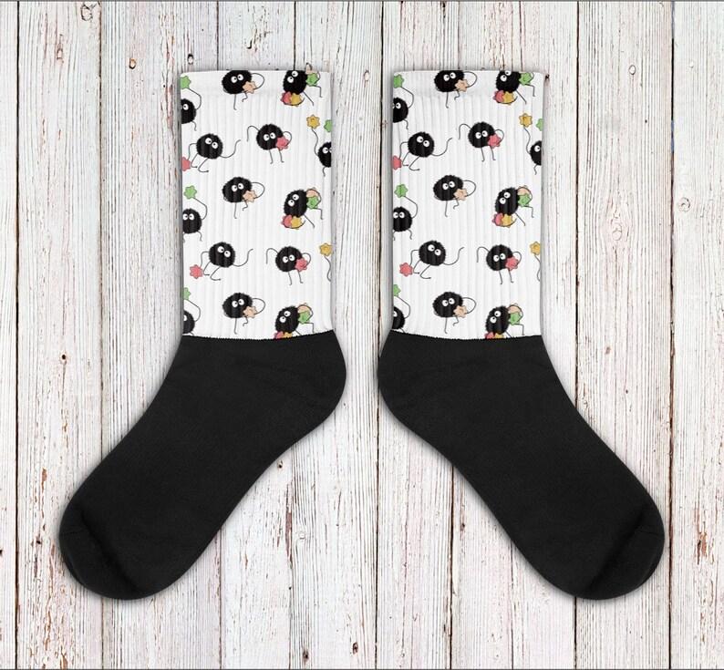 368ce6daae22 Soot Sprite Inspired Socks Spirited Away My Neighbor Totoro