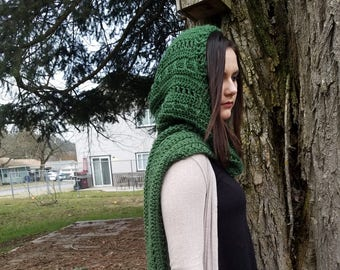 Emerald Green Hooded Scarf