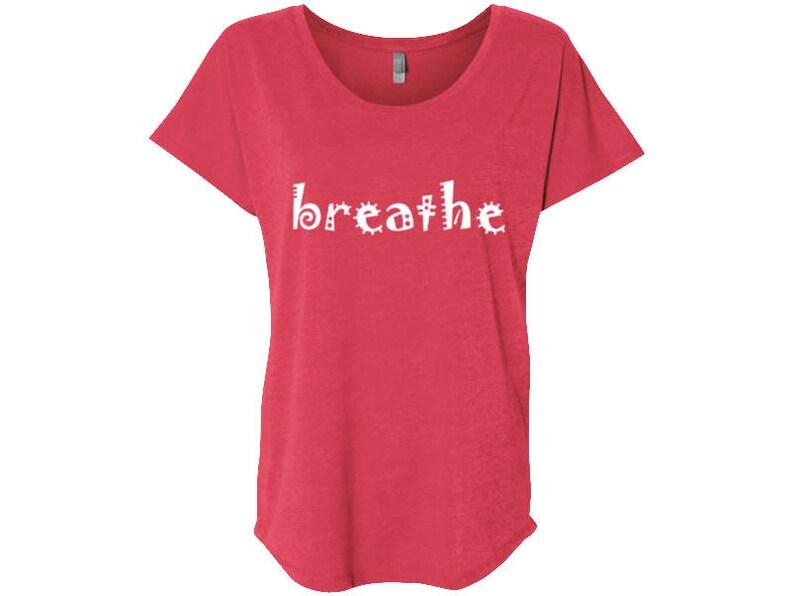 fa5e86bb Breathe Travel T-Shirt Yoga Tshirt Womens Breathe Shirt Gym   Etsy