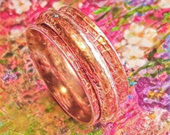 Oxidized Silver Spinner Plant Cell Ring