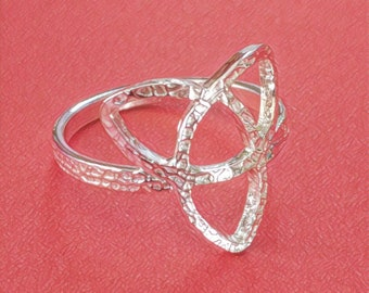 Pure Silver Celtic Knot Ring