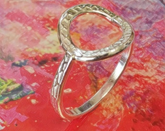 Pure Silver Hoop Band