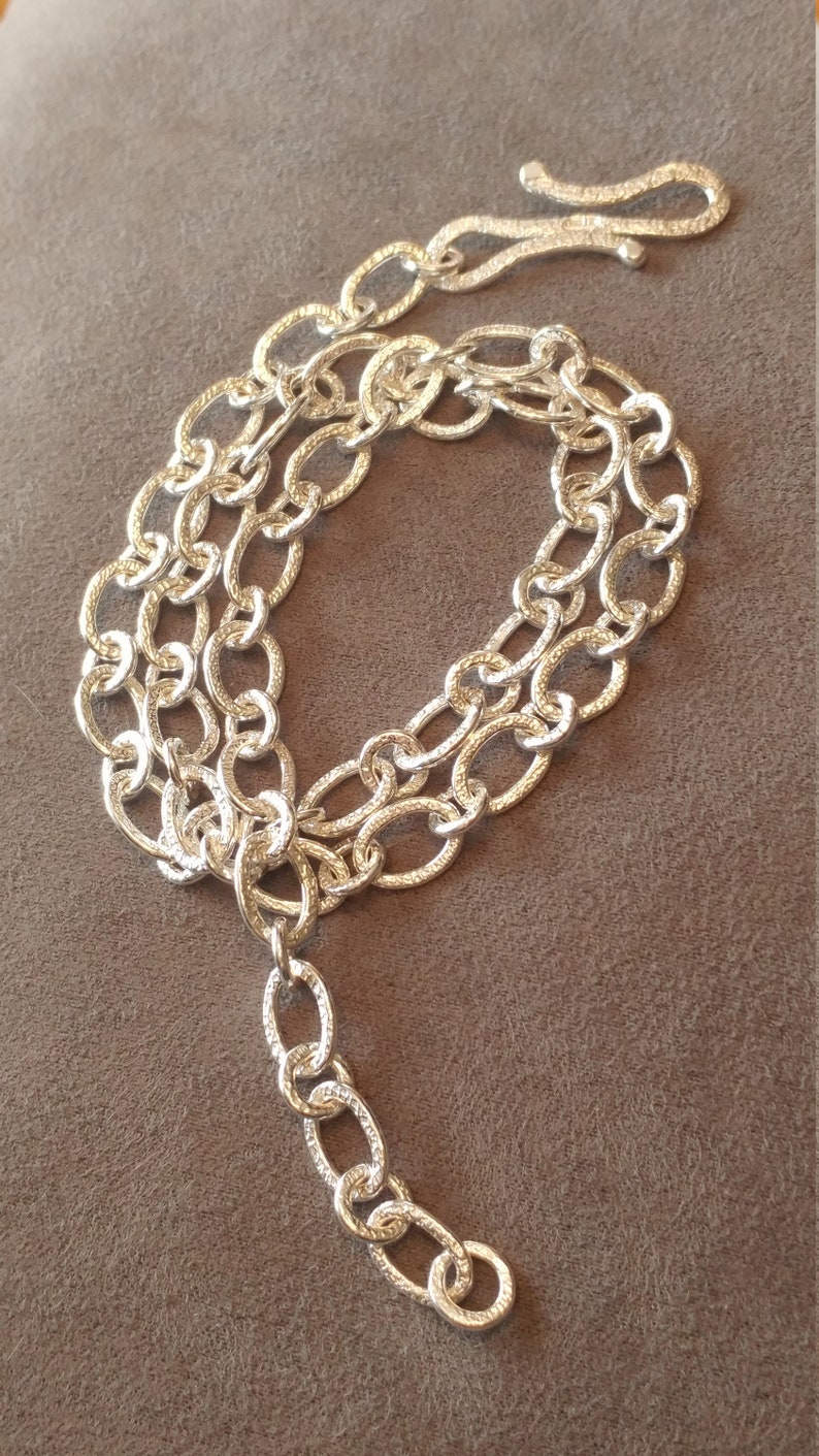 Pure Silver Double Textured Chain