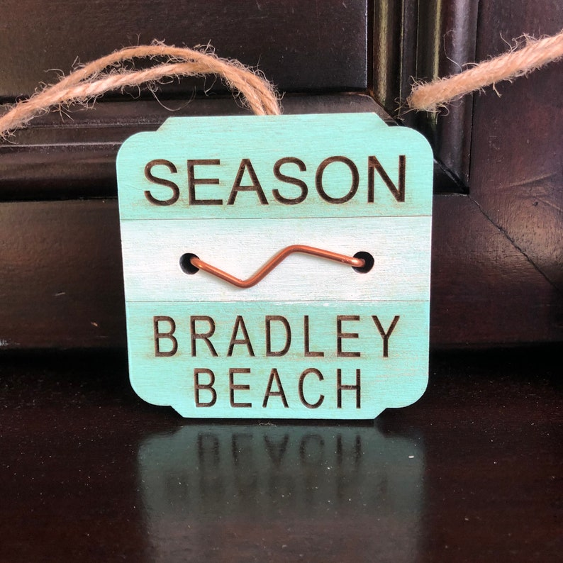 LBI Beach Badge 3\u201d New Jersey Beach Badge Ornament Long Beach Island
