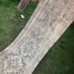"""Rug Runner.2'4x8'7"""".Turkish Vintage Rug Runner,Low pile rug,Vintage oushak runner rug,rugs,rug,hallway runner rug,runner,pastel large rug."""