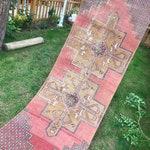 "Runner Rug.2""9x8""10ft.Turkish Vintage Rug Runner,Low pile rug,Vintage oushak runner rug,rugs,rug,hallway runner rug,runner,pastel large rug."