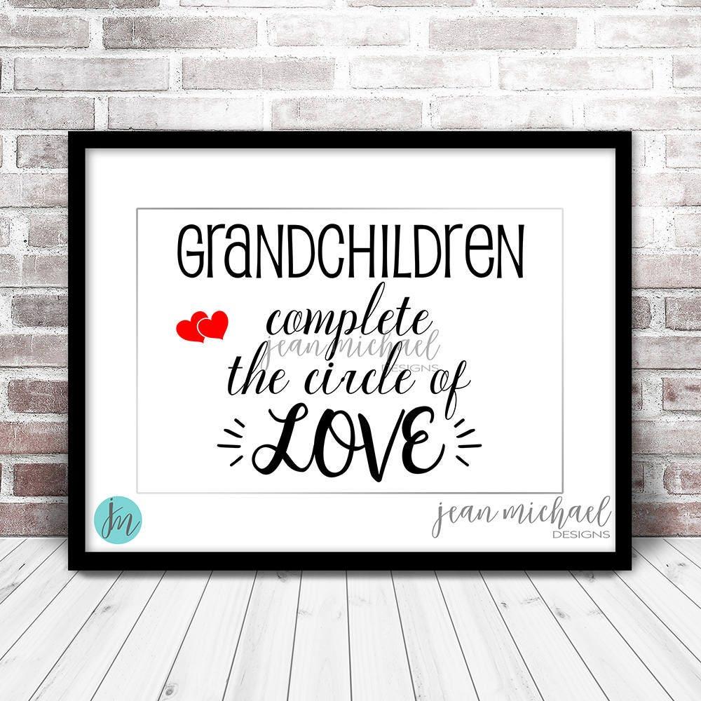 Enkelkinder Familie Schriftzug digitaler Download. Schwarzer | Etsy