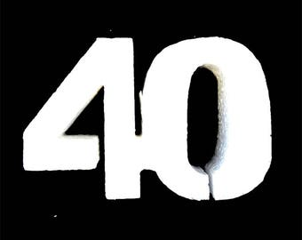 Foam Number 40 for cake topper,40 Anniversary, birthday,crafts,numbers,styrofoam, party decoration,class reunion
