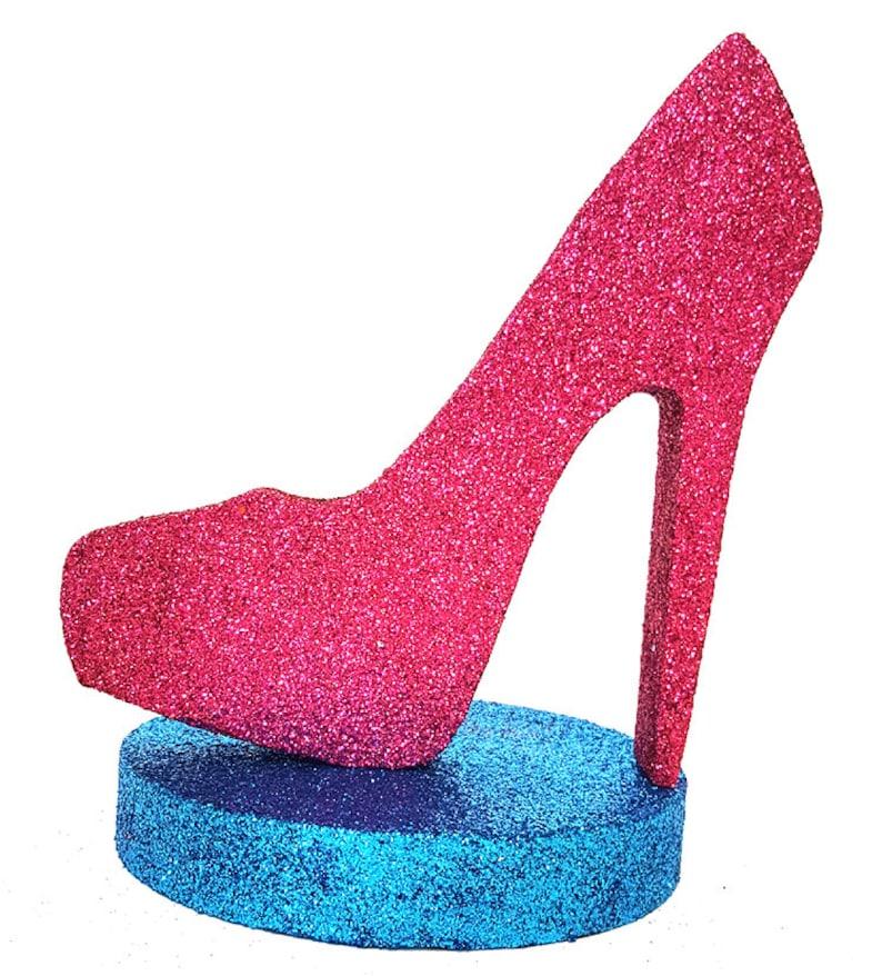 bf8862eaa73b High heel shoe centerpiecestyrofoam shoe cut out Stiletto