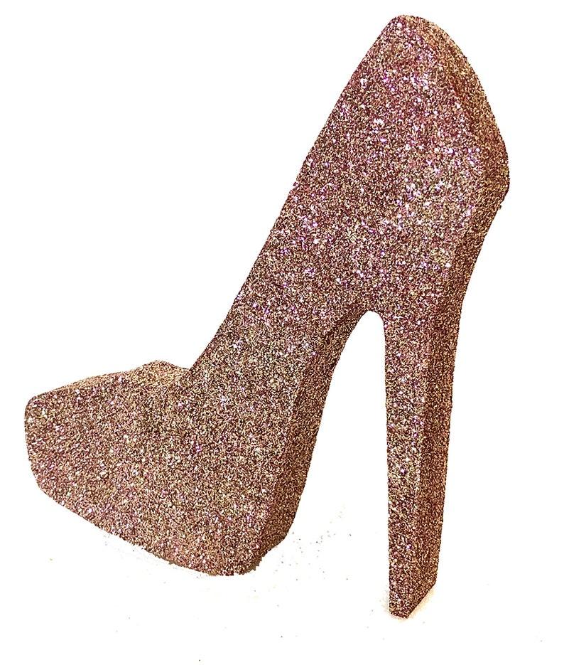 Styrofoam Stiletto High Heel Shoe Cut image 0