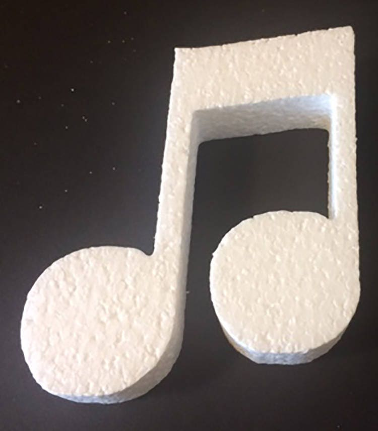 Styrofoam Double Musical Note Cut Outcenterpiecesmusic | Etsy
