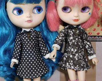 Simple dresses for Blythe, Pullip and similar dolls
