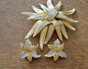 Jewellery Set, Vintage Brooch, Vintage Earrings, Costume Jewellery, Brooches in uk, Earrings in uk, Gifts for Women, Wedding Gift, Brooch