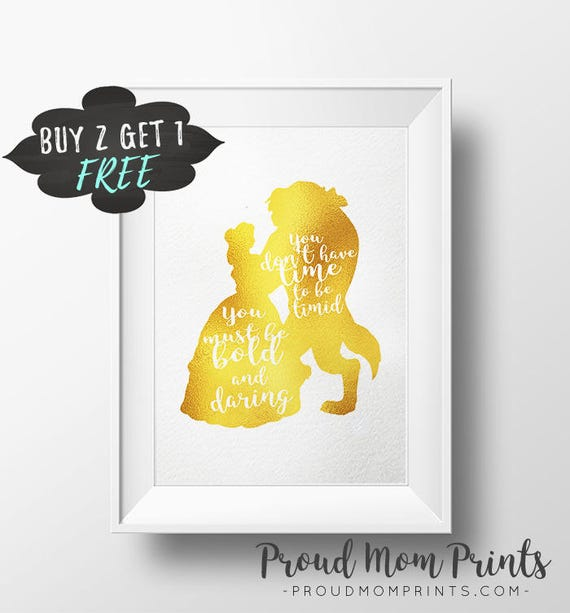 Cartoon Quotes Be Our Guest Wall Decal Beauty And The Beast Wall