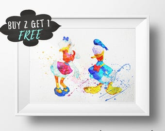 Donald Duck Poster, Donald Duck Nursery, Donald And Daisy Duck Donald Duck Wall Art Donald Duck Print Donald Duck Birthday Party Baby Shower