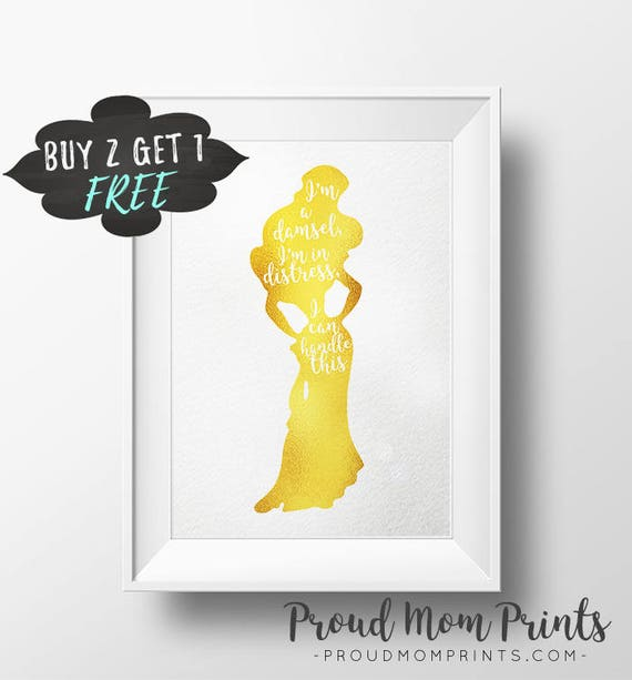 Disney Megara Quote Printable Wall Art I\'m A Damsel In
