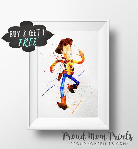 First Birthday Gift Under 10 Toy Story Woody Printable Art