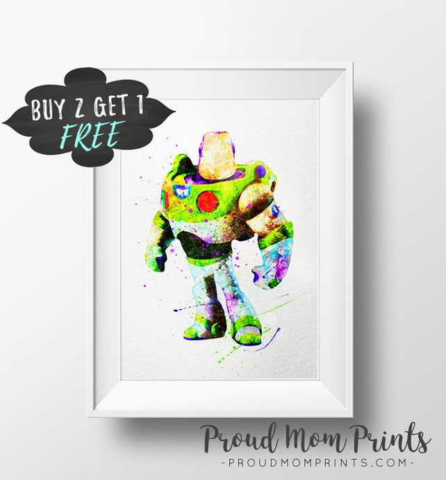 Buzz Lightyear Art Print Poster Toy Story Wall Art Nursery | Etsy
