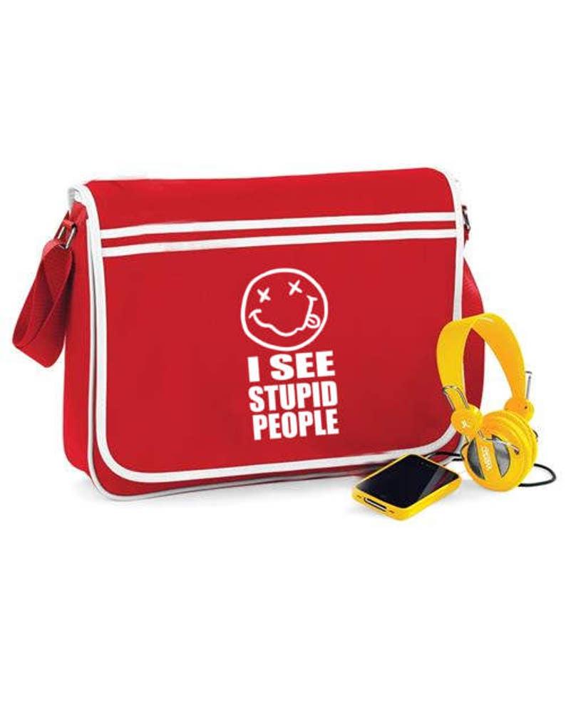 Retro Shoulder Bag I See Stupid People
