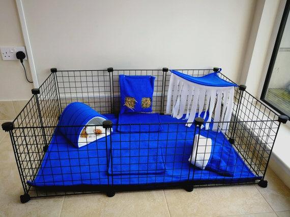 C/&C guinea pig small animal waterproof fleece cage liner set Turquoise