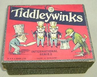 Tiddleywinks Game Alice in Wonderland H P Gibson