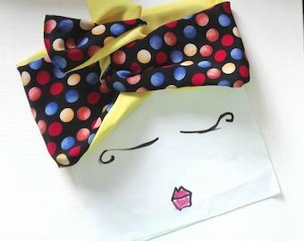 Multicolor Polka Dots Headband