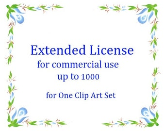 Extended License for commercial use up to 1-1000