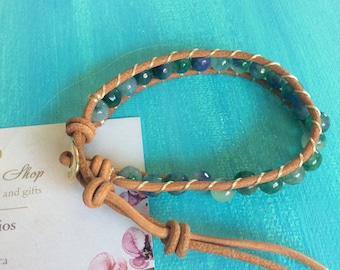 Turquoise Wrap Leather Wrap