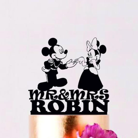La Mickey y la Minnie topper de la torta para siempre   Etsy