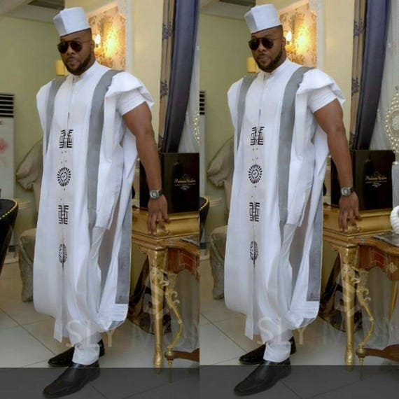 African Men's Clothing /3pcs Agbada For Men / Agbada /