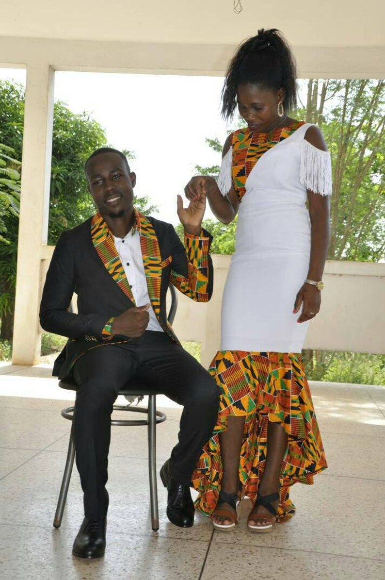 4e0950976 African Couple's outfit/ prom dress/ankara men outfit | Etsy