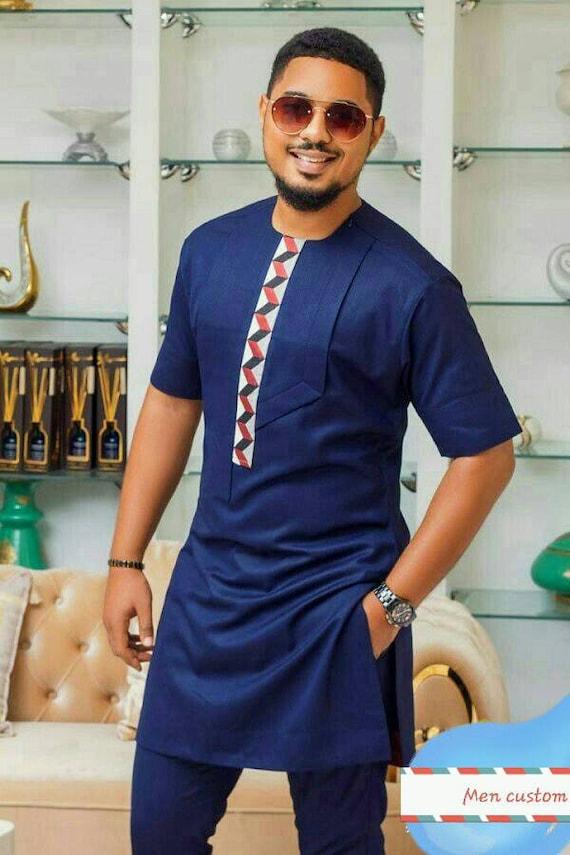 African Men S Clothing African Fashion Wedding Suit Dashiki African Men S Shirt Vetement Africain Chemise Et Pantalon Ankara Styles