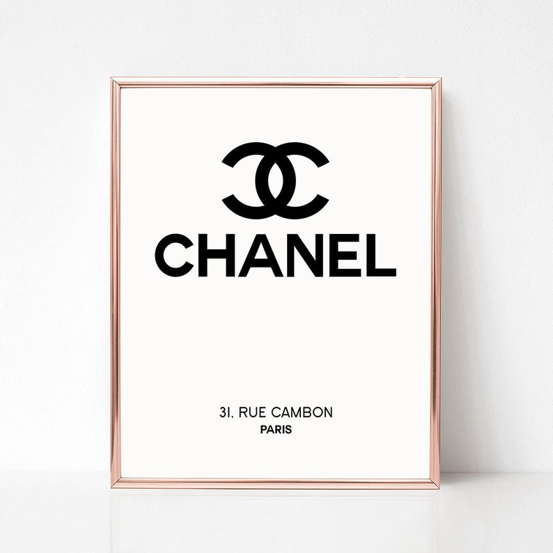 photo about Printable Chanel Logo named Chanel emblem print, Printable Chanel decoration, Fast obtain, Design symbol artwork, Chanel poster, Black and white, Bed room wall artwork