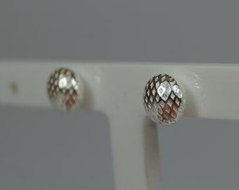 99ec61e73 7mm Dimple Button Silver Stud Earrings. Sterling 925 Silver. Boxed Silver Stud  Earrings. Large Size Ball Stud Silver Earrings. Ear Rings.