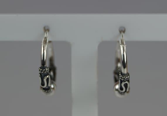 Silver Sleeper Hoop Ear Rings. CelticEthnicTribal Earrings Sterling Silver 925 Earrings 16mm Silver Sleeper Hoop Earrings
