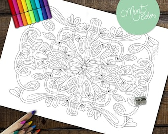 Adult Coloring Page: Symmetrical I