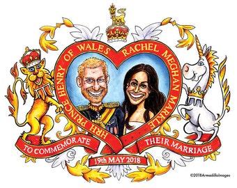 Harry & Meghan Royal Wedding Commemorative Colouring Sheet