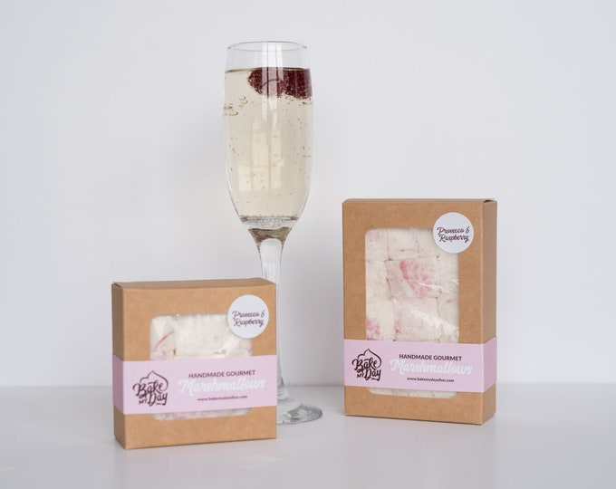 Prosecco & Raspberry Handmade Marshmallows