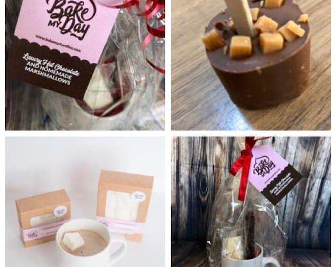 Luxury Hot Chocolate Set with Handmade Marshmallows